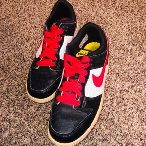 Red abd Black Nike's